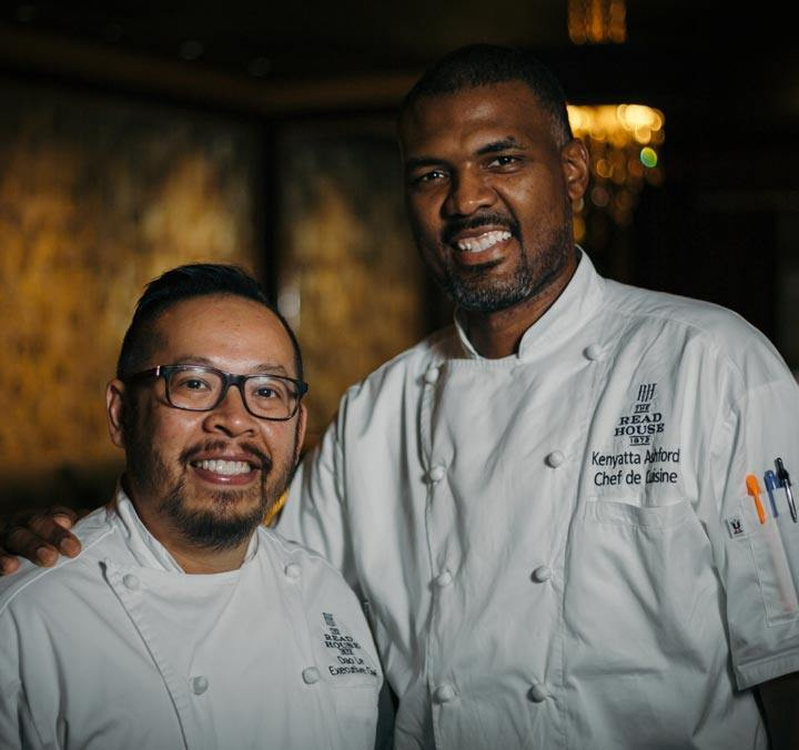The Executive Chef and Chef de Cuisine of Bridgeman's Chophouse